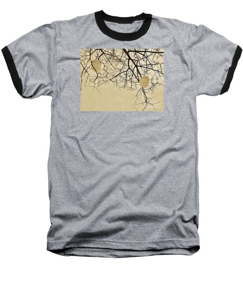 Tree Orbs Baseball T-Shirt by Reb Frost