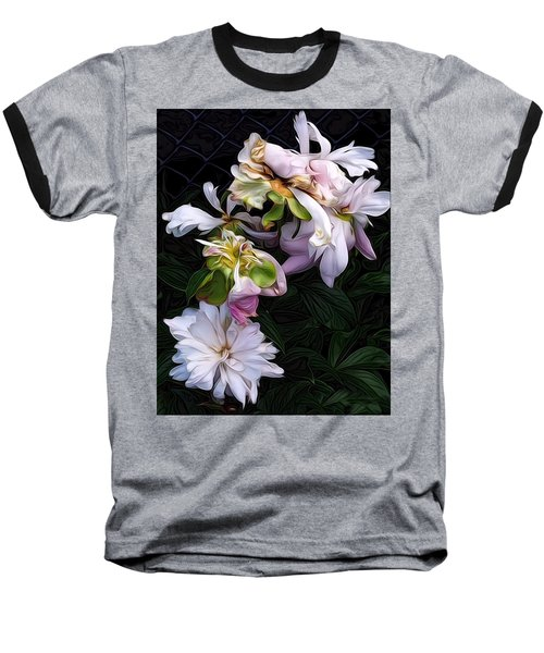Tree Peony Baseball T-Shirt by Alexis Rotella
