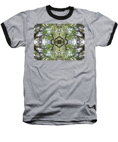 Tree Photo Fractal Baseball T-Shirt
