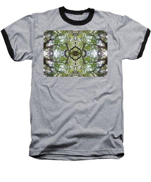 Tree Photo Fractal Baseball T-Shirt