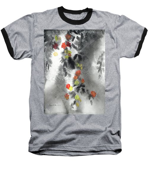 Tree Shadows And Fall Leaves Baseball T-Shirt