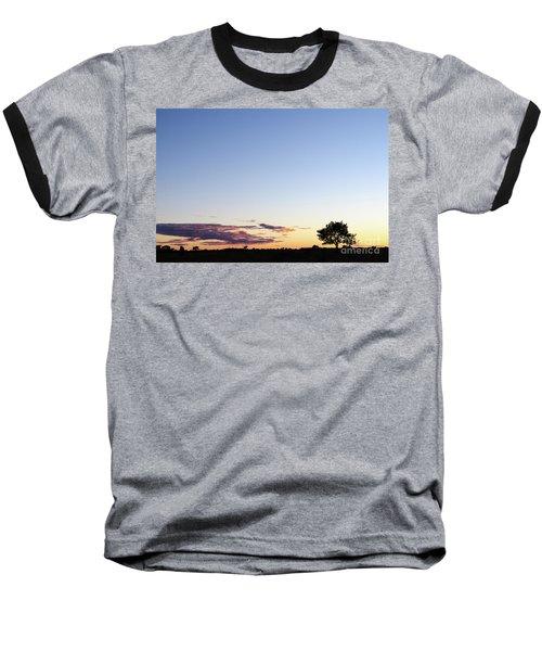 Tree Silhouette By Twilight Baseball T-Shirt by Kennerth and Birgitta Kullman