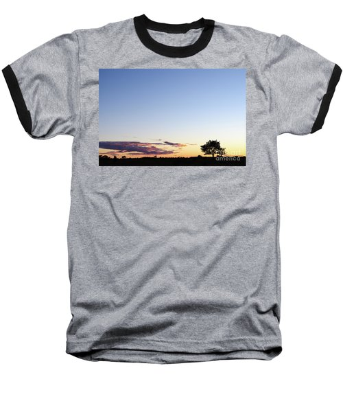 Tree Silhouette By Twilight Baseball T-Shirt