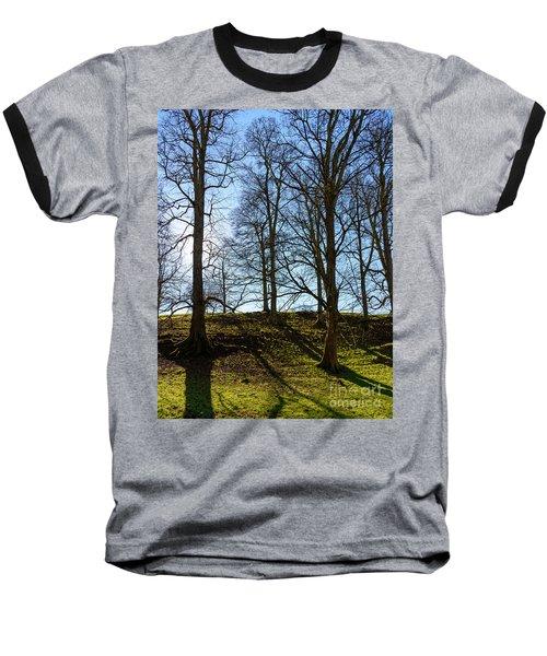 Tree Silhouettes Baseball T-Shirt