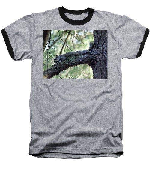 Baseball T-Shirt featuring the photograph  Tree Squirrel by B Wayne Mullins