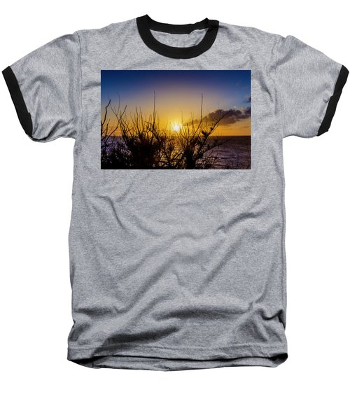 Tree Sunset Baseball T-Shirt