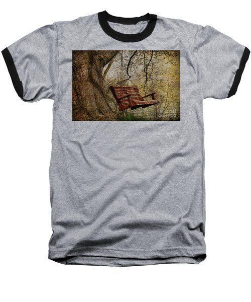 Tree Swing By The Lake Baseball T-Shirt