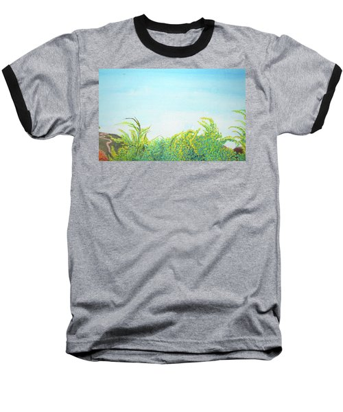 Baseball T-Shirt featuring the painting Tree Tops by Mary Ellen Frazee
