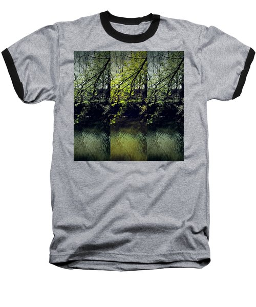 Tree Triptych Baseball T-Shirt by Michele Carter
