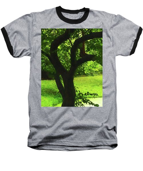 Tree Trunk Green Baseball T-Shirt