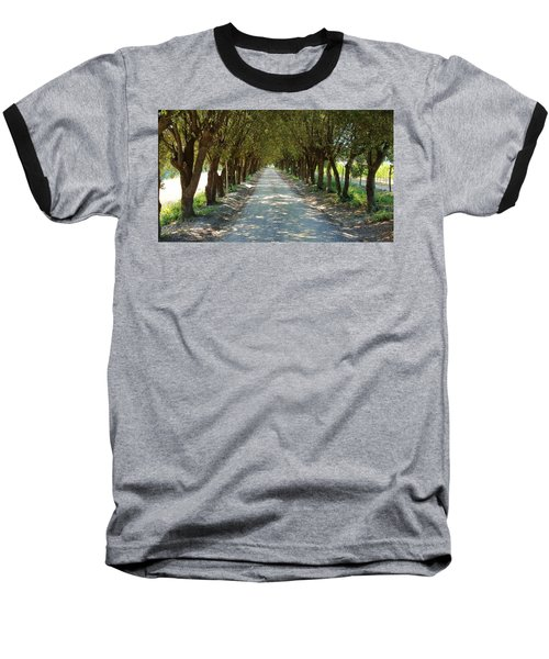 Baseball T-Shirt featuring the photograph Tree Tunnel by Valentino Visentini