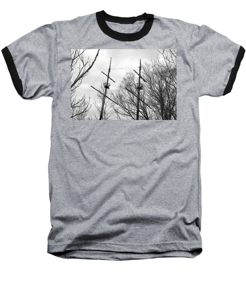 Baseball T-Shirt featuring the photograph Tree Types by Valentino Visentini
