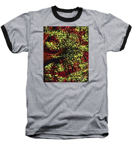 Tree With Red Sky Baseball T-Shirt