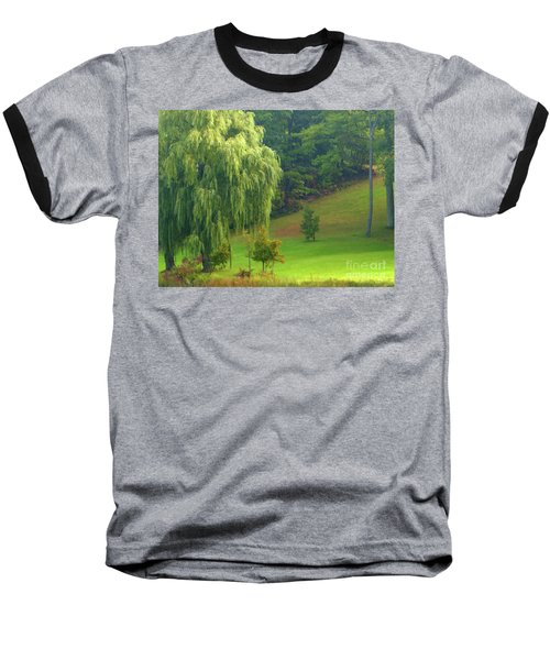 Trees Along Hill Baseball T-Shirt