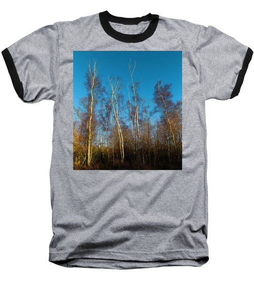Trees And Blue Sky Baseball T-Shirt