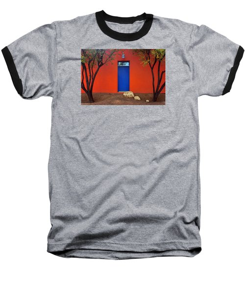 Trees And Door - Barrio Historico - Tucson Baseball T-Shirt