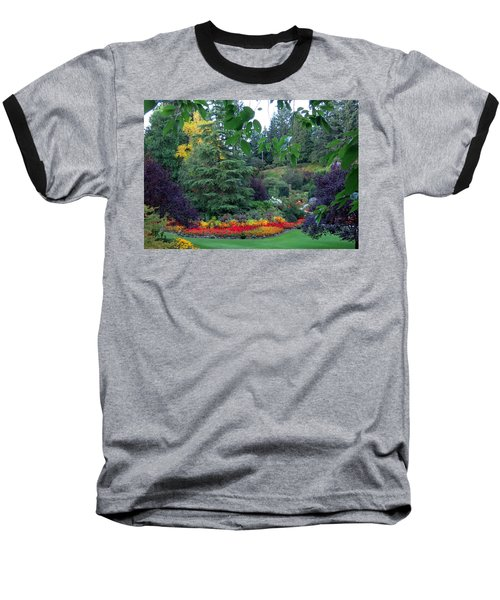Trees And Flowers Baseball T-Shirt by Betty Buller Whitehead