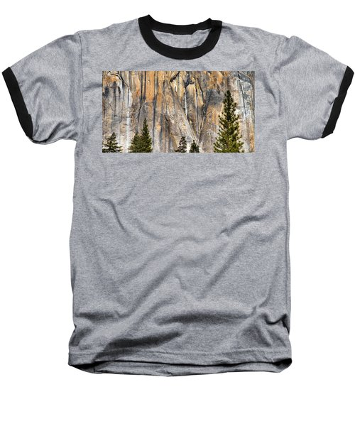 Trees And Granite Baseball T-Shirt by Josephine Buschman