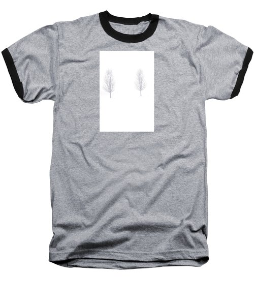 Baseball T-Shirt featuring the photograph Trees And Snow by Daniel Thompson