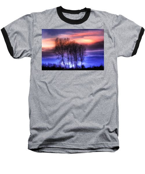 Trees And Twilight Baseball T-Shirt