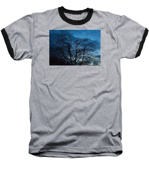Trees At Dusk Baseball T-Shirt