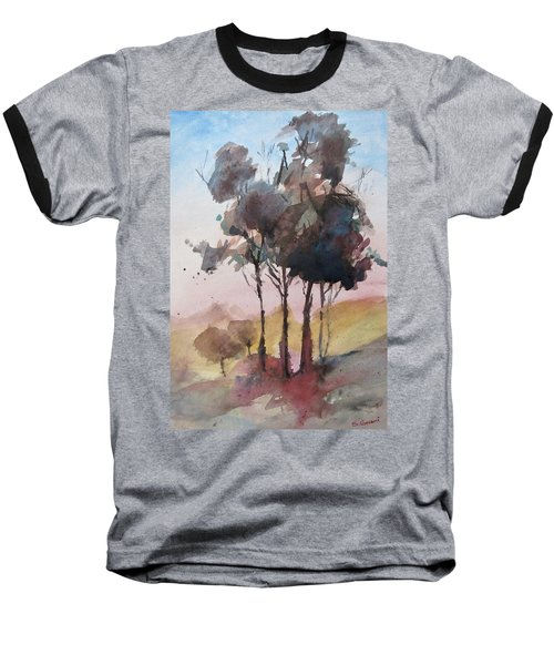 Baseball T-Shirt featuring the painting Trees by Geni Gorani