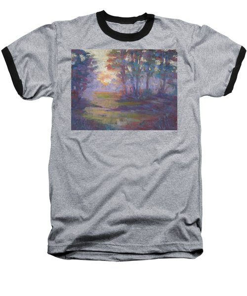 Trees In The Mist Baseball T-Shirt