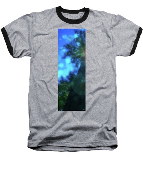 Trees Left Baseball T-Shirt by Kenneth Armand Johnson
