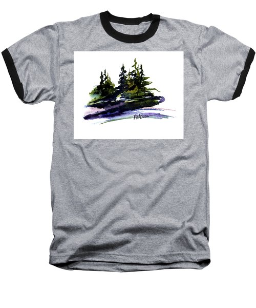 Trees Baseball T-Shirt by Marti Green