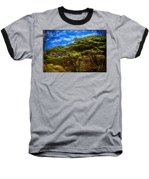 Trees On An Oregon Beach Baseball T-Shirt