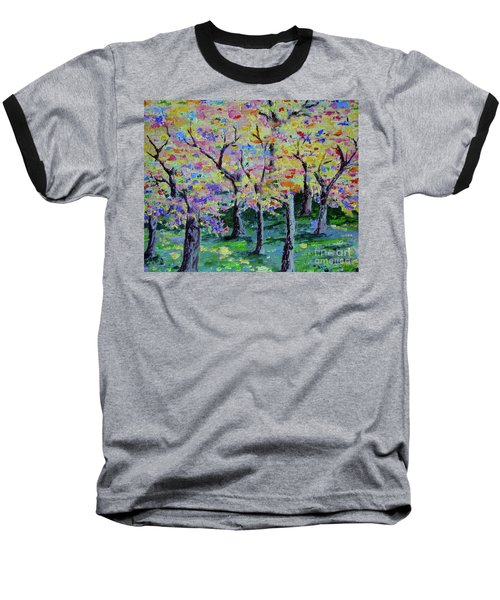 Trees On Hideaway Ct Baseball T-Shirt by Lisa Rose Musselwhite
