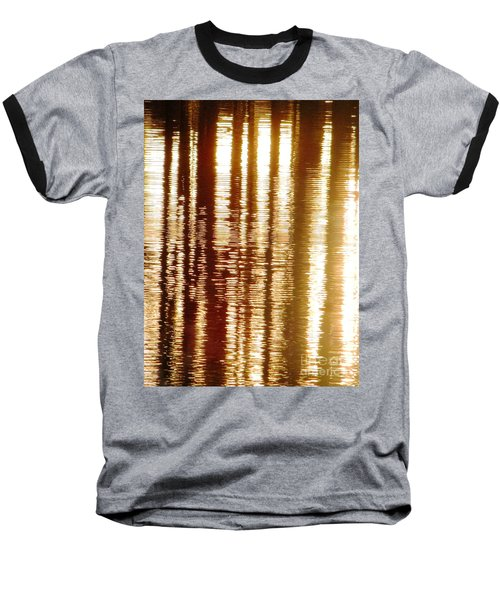 Trees On Rippled Water Baseball T-Shirt