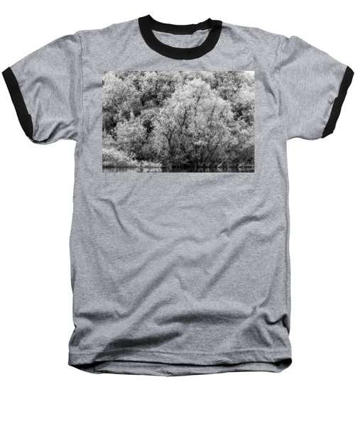 Trees On The River Baseball T-Shirt