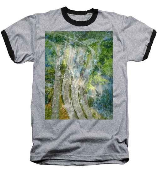 Trees Over Highway Baseball T-Shirt