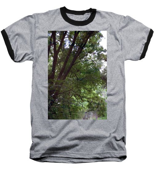 Trees Reflected In A Woodland Stream 2867 H_2 Baseball T-Shirt
