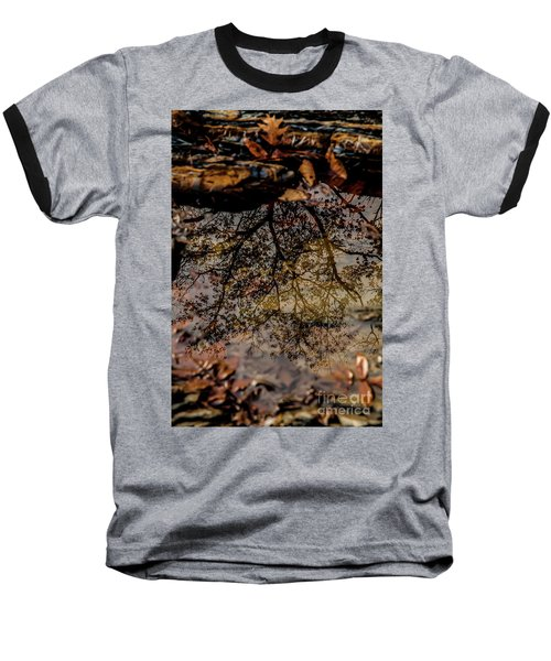 Baseball T-Shirt featuring the photograph Tree's Reflection by Iris Greenwell