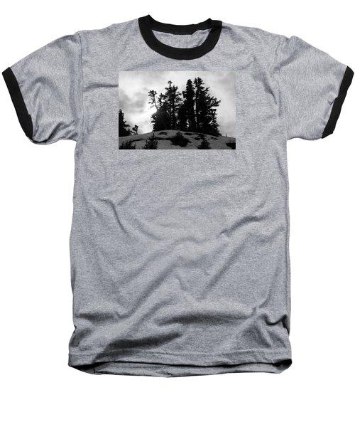 Trees Silhouettes Baseball T-Shirt by Yulia Kazansky