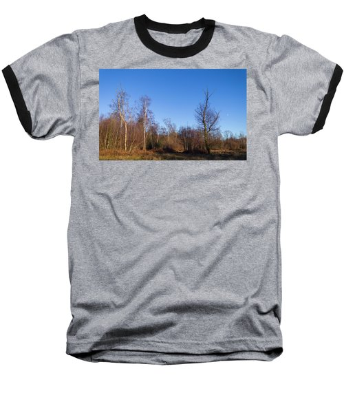 Trees With The Moon Baseball T-Shirt