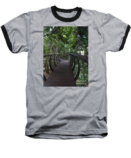 Treetop Canopy Walk Baseball T-Shirt by Bev Conover