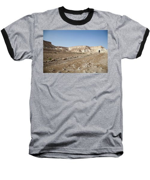Trekker Alone On The Wild Way Baseball T-Shirt by Yoel Koskas