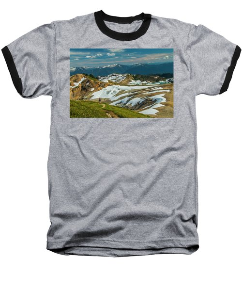 Trekking Ptarmigan Ridge Baseball T-Shirt