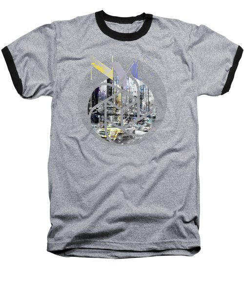 Trendy Design New York City Geometric Mix No 4 Baseball T-Shirt by Melanie Viola