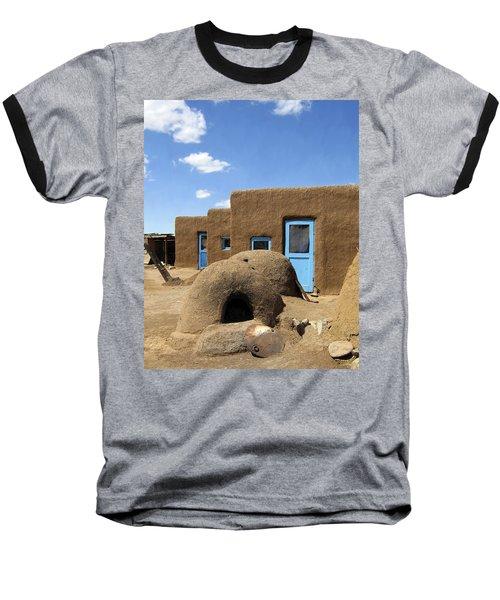 Tres Casitas Taos Pueblo Baseball T-Shirt