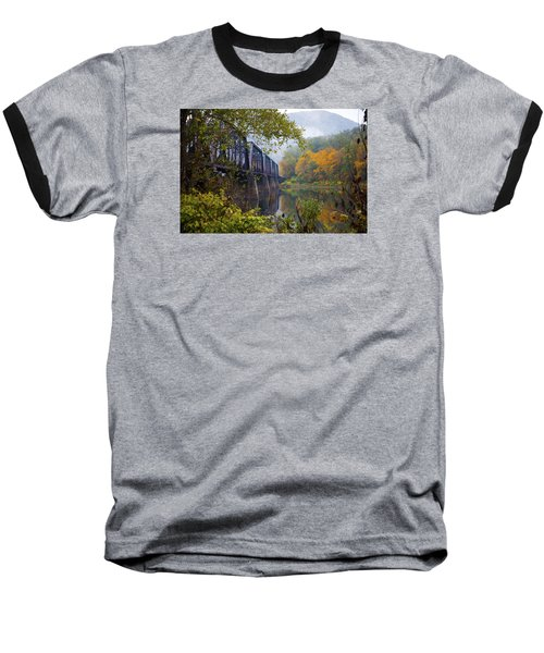 Trestle In Autumn Baseball T-Shirt by Hugh Smith