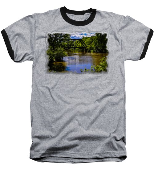 Baseball T-Shirt featuring the photograph Trestle Over River by Mark Myhaver