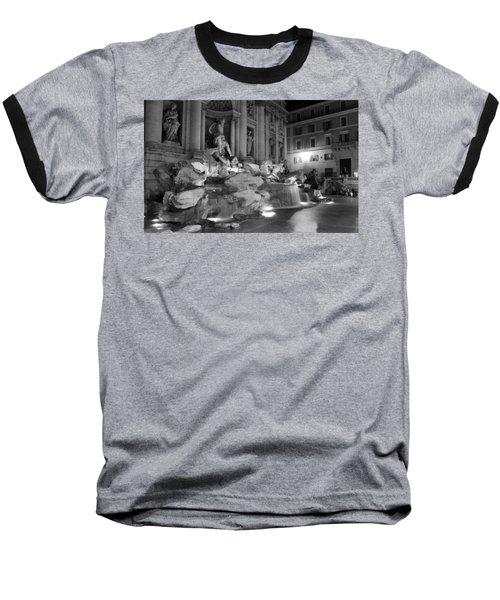 Trevi Fountain Night 2 Baseball T-Shirt