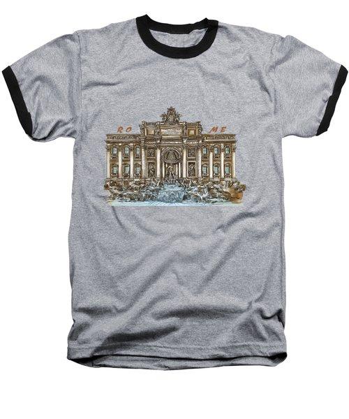 Trevi Fountain,rome  Baseball T-Shirt by Andrzej Szczerski