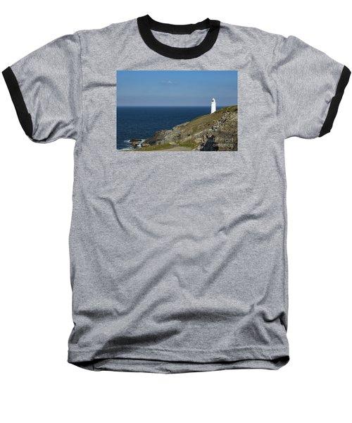 Trevose Head Lighthouse Baseball T-Shirt by Brian Roscorla