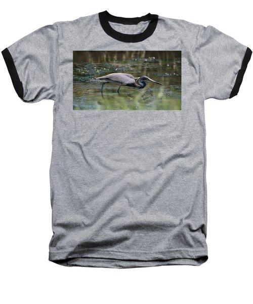 Tri Color Heron Hunting Baseball T-Shirt