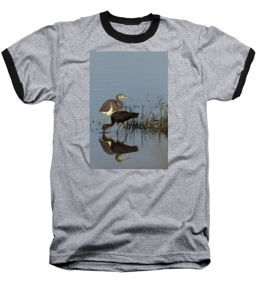Tri-colored Heron And Glossy Ibis Baseball T-Shirt